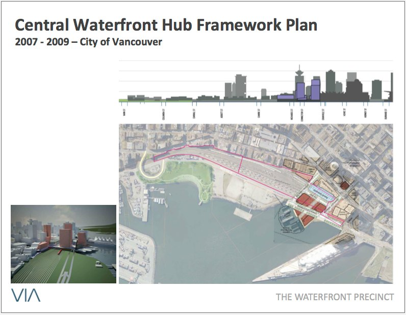 <p>2007-2009 Central Waterfront Hub Framework Plan</p><p> This is not the exact drawing we would've drawn. We are very wary of being boxed into third-party agreements. But there is a fundamental simple and sound proven logic at work here -framework we are now starting to flesh out. </p>